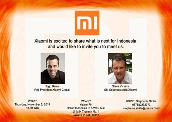 Undangan dari Xiaomi Untuk Beberapa Tech Blogger Indonesia