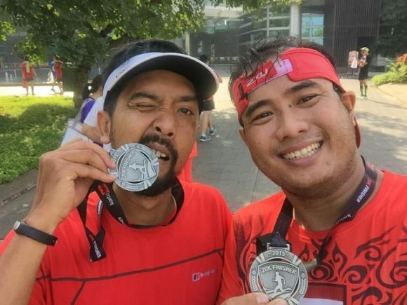 medali Halo Fit Run 2015 20K cukup keras