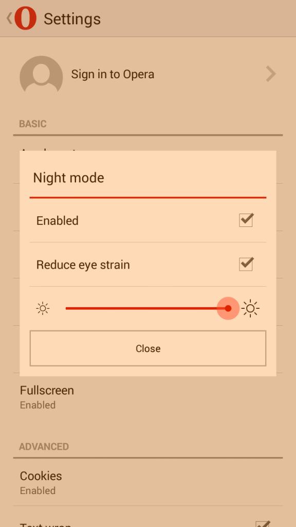 Fitur Reduce Eye Strain Opera Mini - Untuk Mengurangi Ketegangan Mata