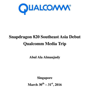 Snapdragon 820 South East Asia Debut